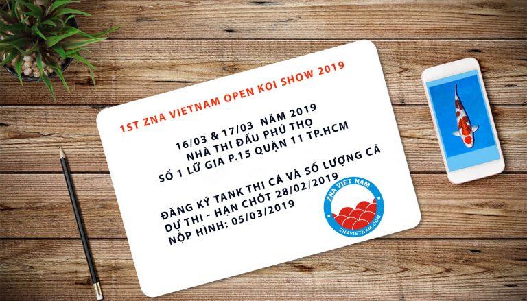1st ZNA Vietnam Open Koi show 2019